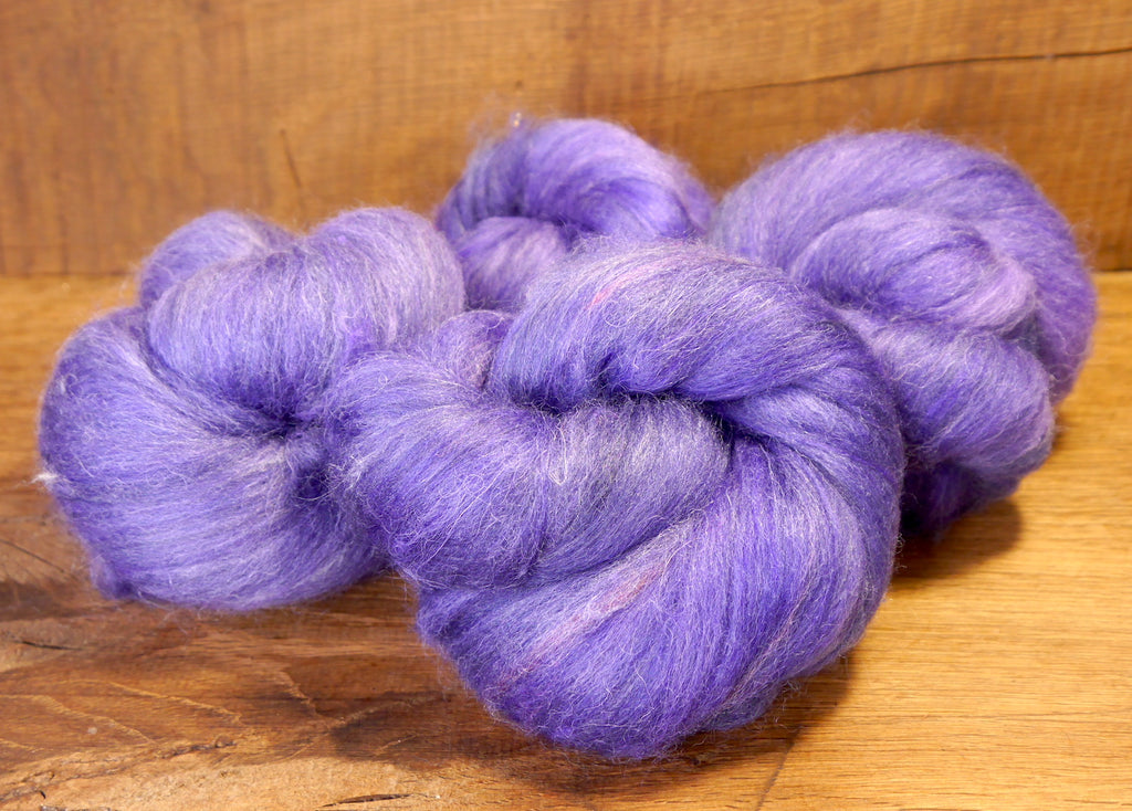 Carded Wool/Luxury Fibre Batt Set, 100g - 'Heliotrope'
