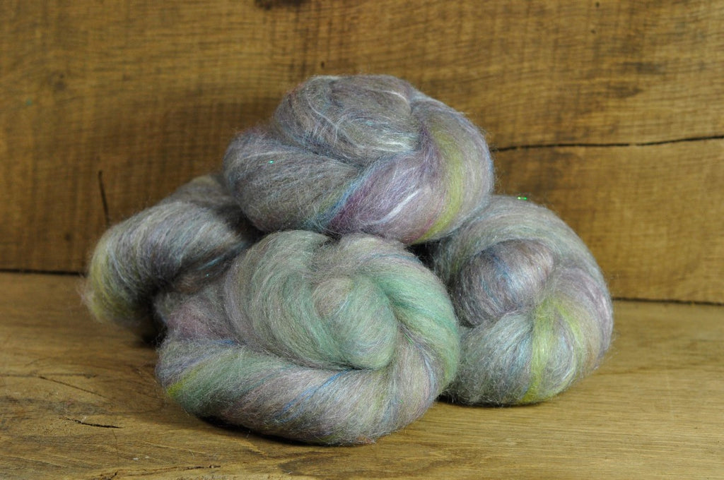 Carded Wool/Luxury Fibre Batt Set - Icicles