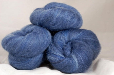 Carded Wool/Silk Batt Set - Marine