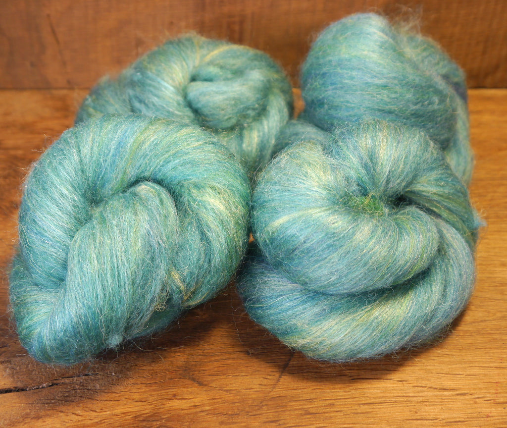 Carded Wool/Luxury Fibre Batt Set, 100g - 'Peacock'