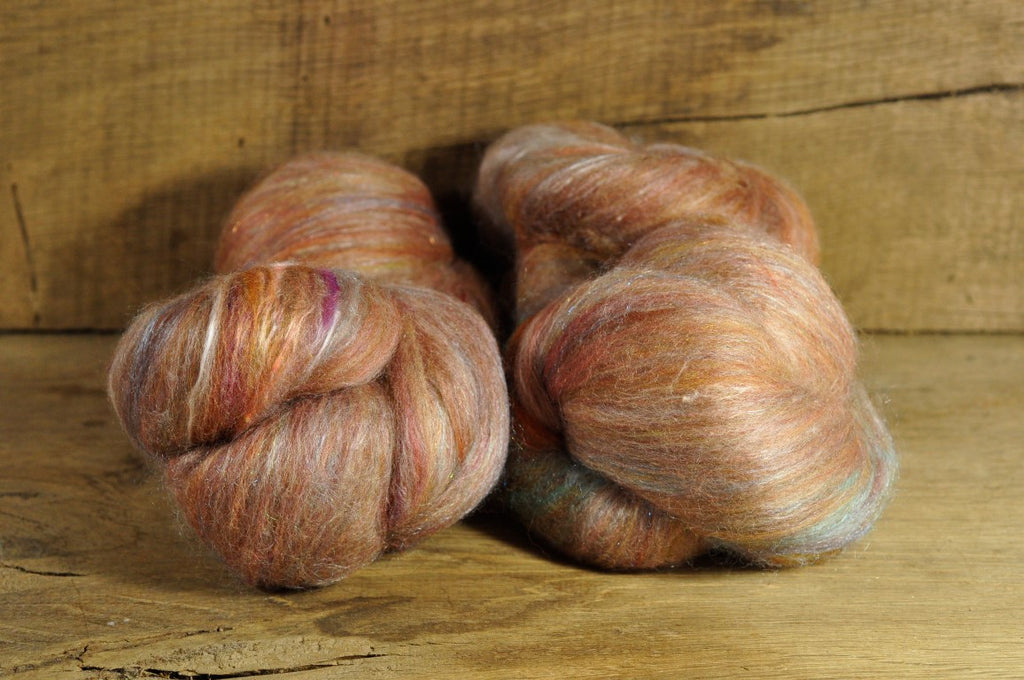 Carded Wool/Luxury Fibre Batt Set - Tawny