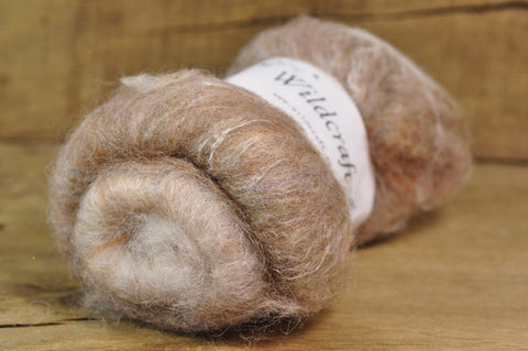 Carded Wool/Luxury Fibre Batt 50g - 'Tawny'