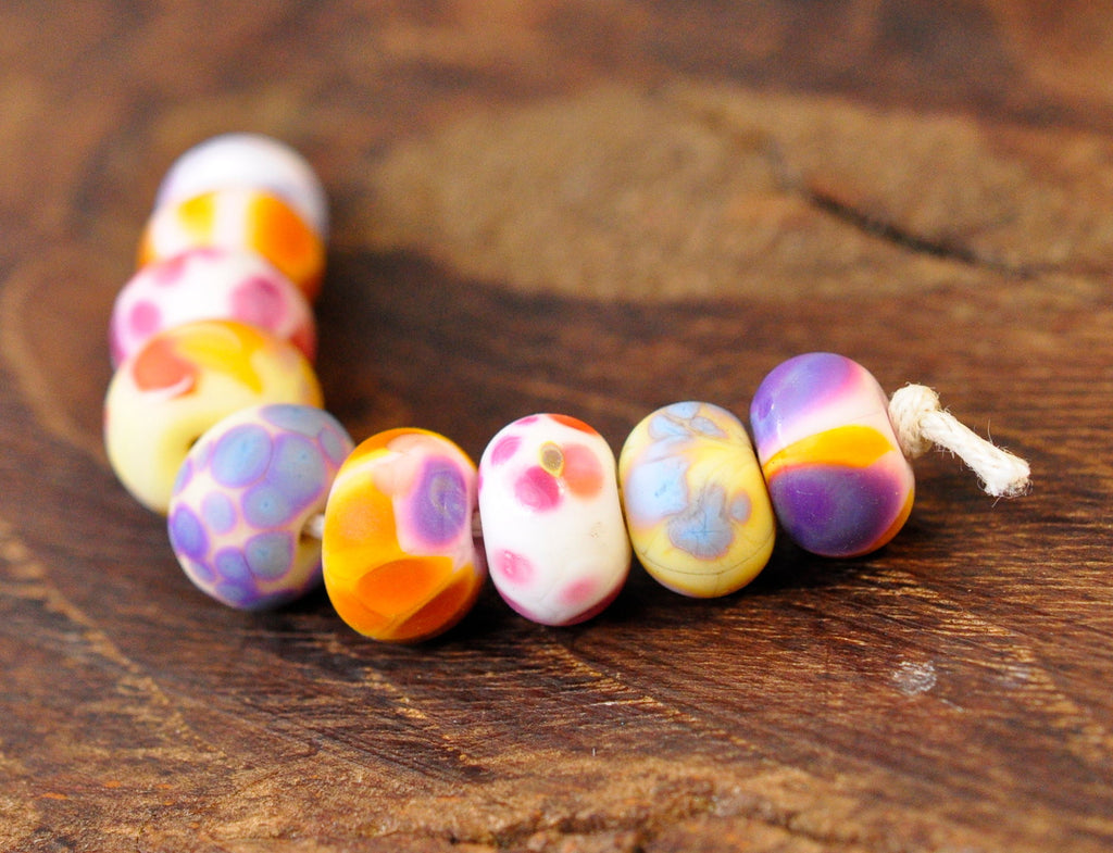 Handmade Lampwork Glass Beads - Sherbet Mix