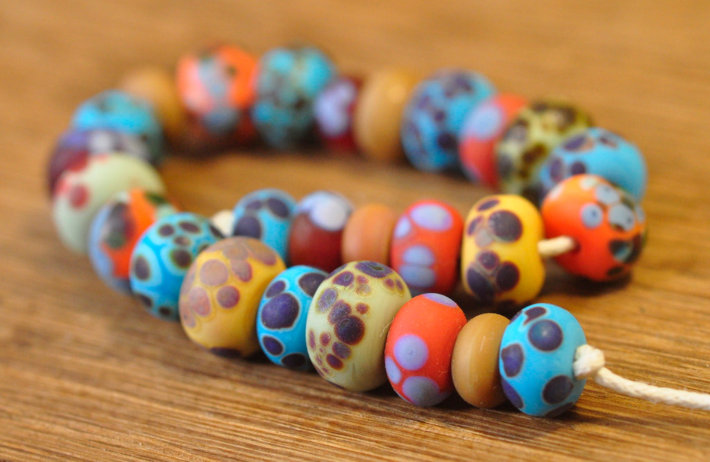 Handmade Lampwork Glass Beads - Speckled Mix