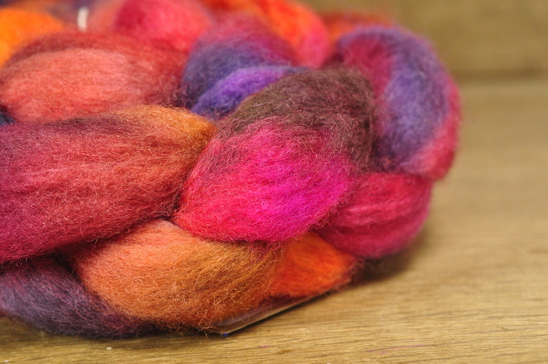 BFL Wool Top for Hand Spinning - 'Acer'