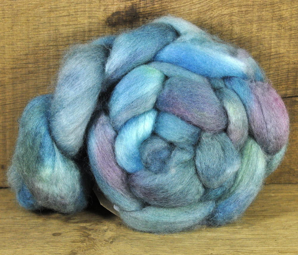 BFL Wool Top for Hand Spinning - 'Aquatic'