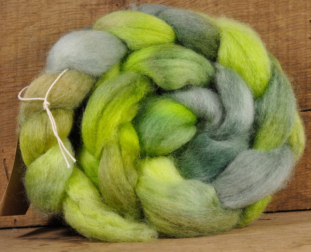 "BFL Wool Top for Hand Spinning - ""Avocado"""
