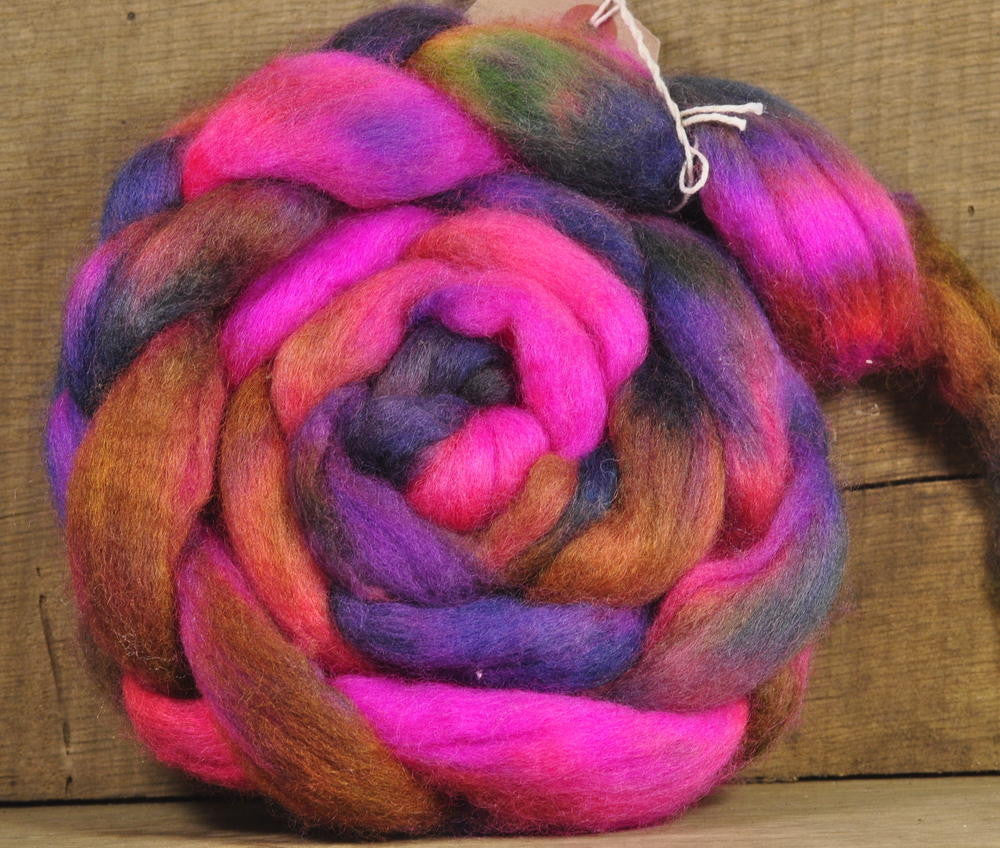 BFL Wool Top for Hand Spinning - Bonfire