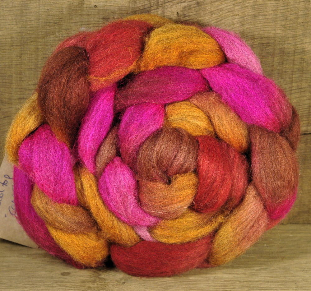 BFL Wool Top for Hand Spinning - Compote