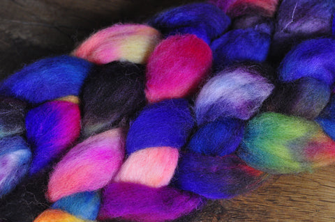 BFL Wool Top for Hand Spinning - 'Fireworks'