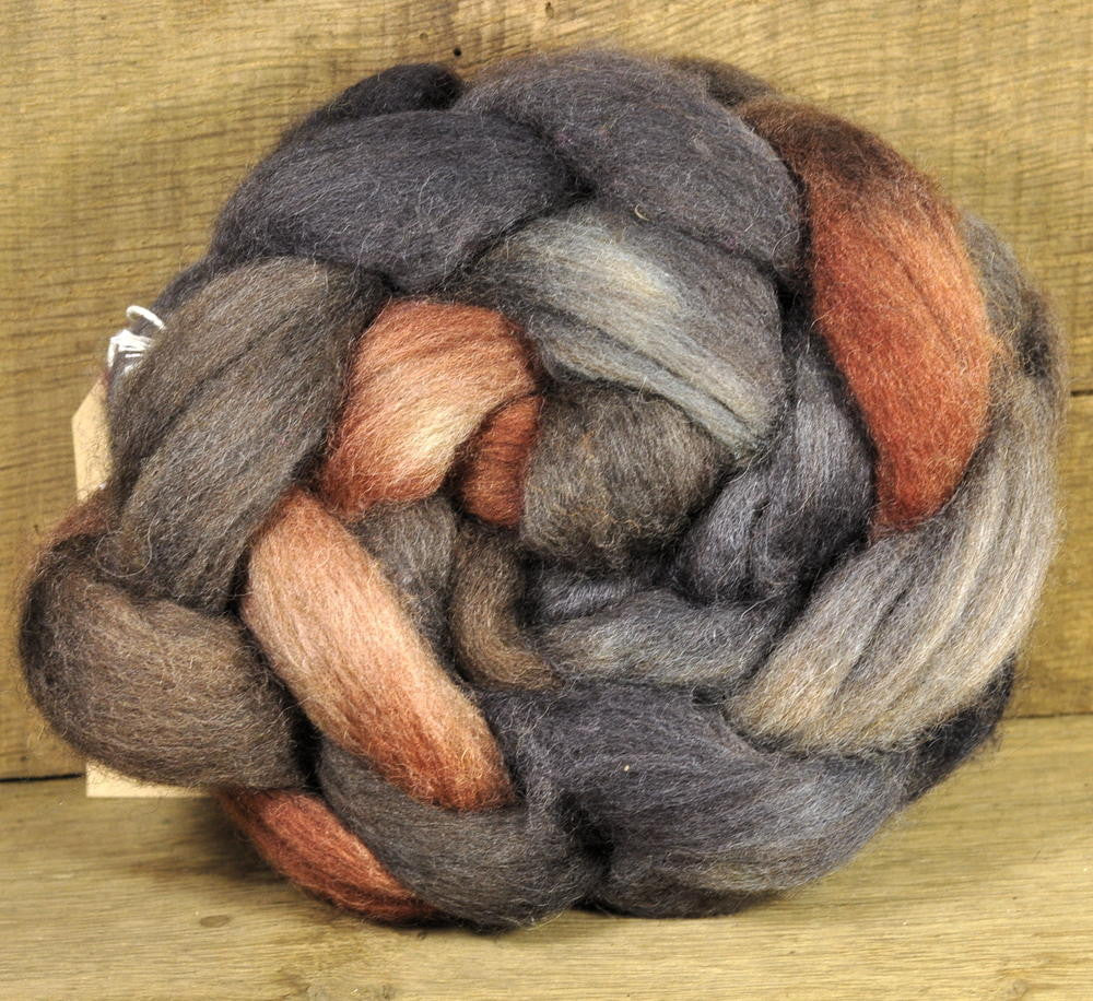 BFL Wool Top for Hand Spinning - 'Fossil Shades'