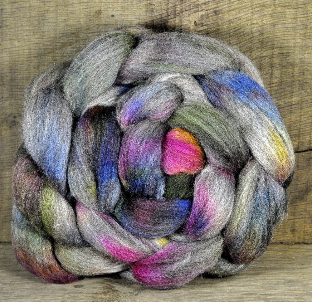 BFL Wool Top for Hand Spinning - 'Heathland Path'