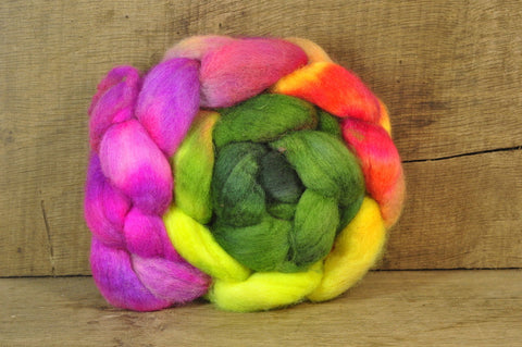 BFL Wool Top for Hand Spinning - 'Hot Border'