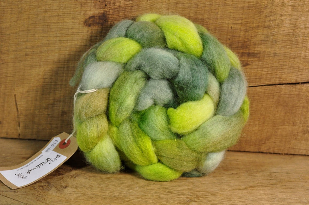 BFL Wool Top for Hand Spinning - 'Lichen'