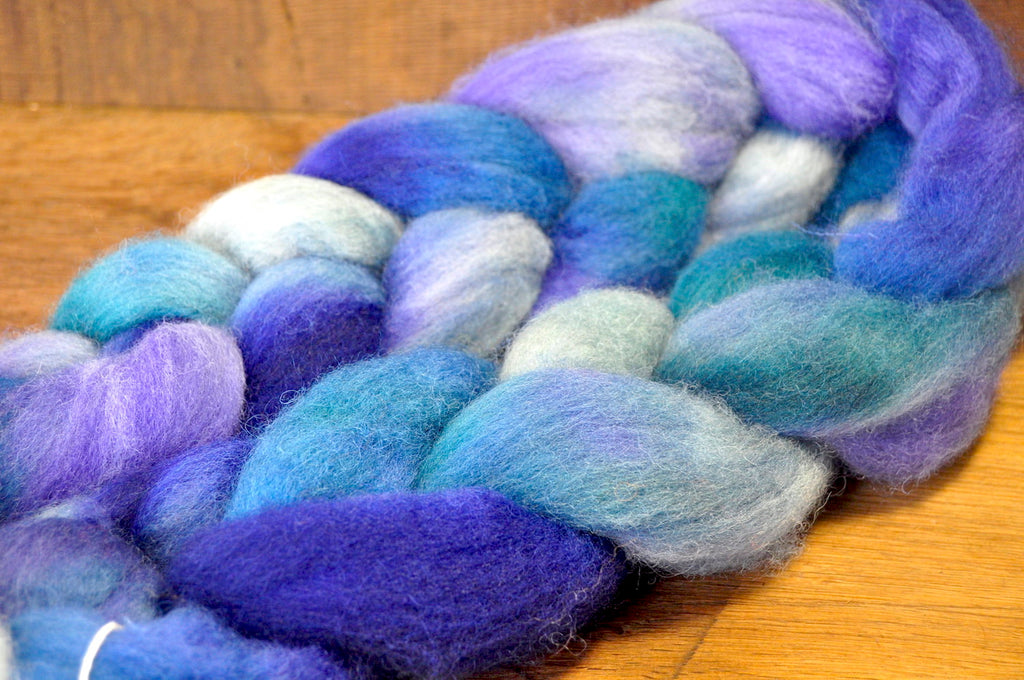 BFL Wool Top for Hand Spinning - 'Maritime'