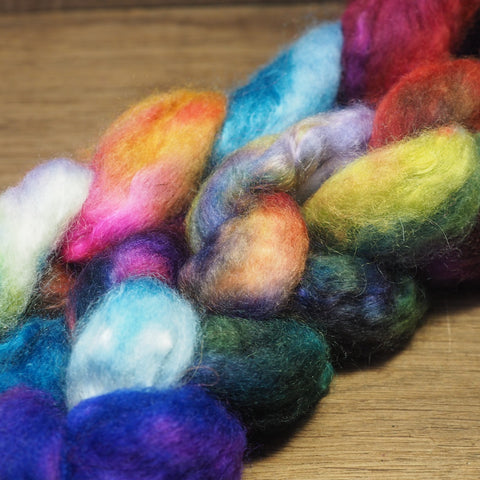BFL Wool / Sparkly Nylon Top - 'Spring Bouquet'
