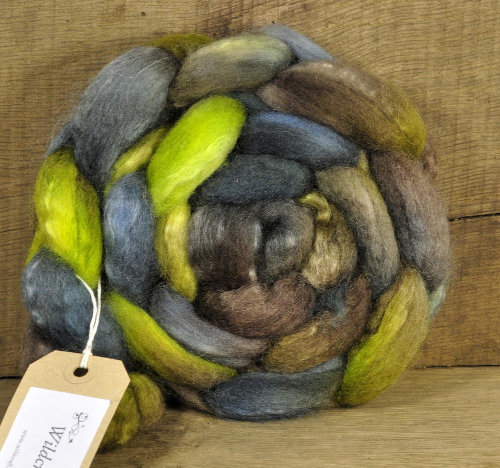 BFL/Kid Mohair Top - Lichens
