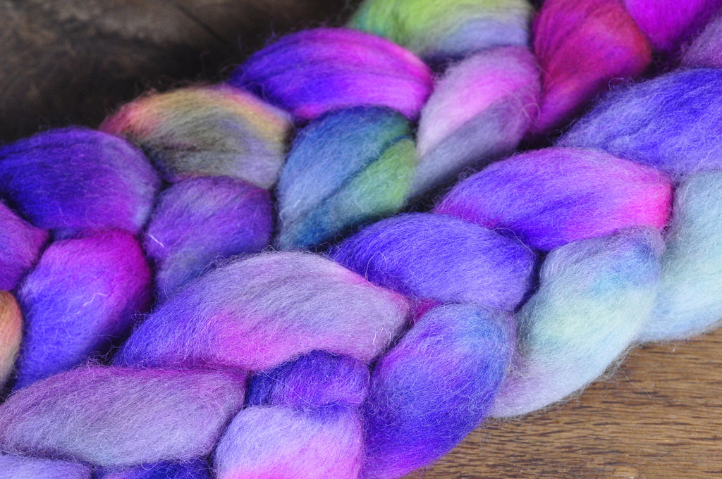 BFL Wool Top for Hand Spinning - 'Northern Lights'