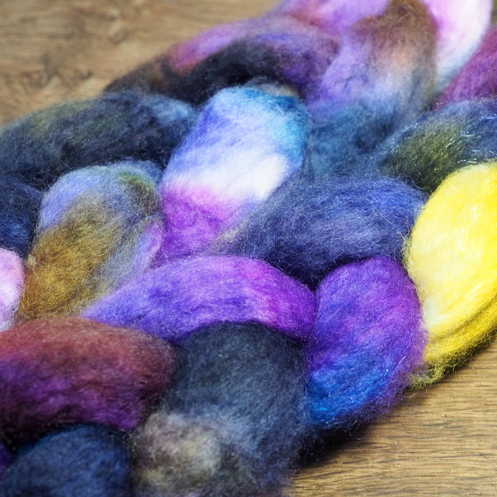 BFL Wool / Sparkly Nylon Top - 'Aster'