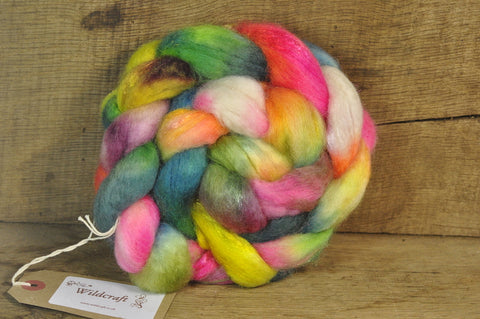 BFL Wool / Sparkly Nylon Top - 'Butterflies'