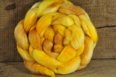 BFL Wool / Sparkly Nylon Top - 'Butterscotch'