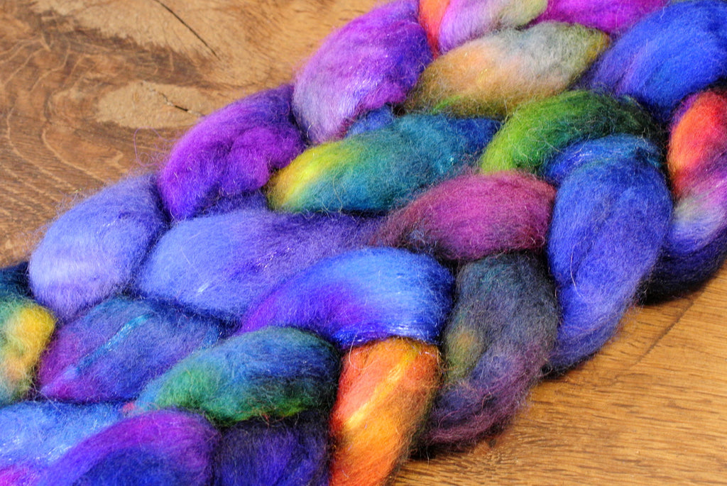 BFL Wool / Sparkly Nylon Top - 'Cosmos'