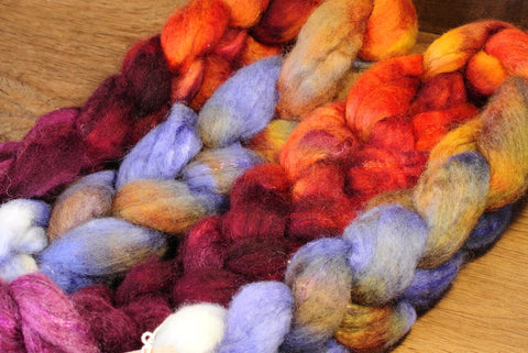 SECONDS** BFL Wool / Sparkly Nylon Top - 'Damask Gradient'