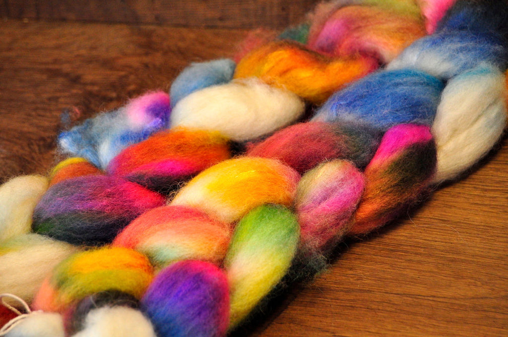 BFL Wool / Sparkly Nylon Top - 'Eclectic'