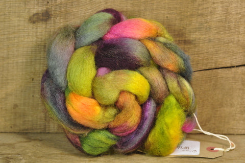 BFL Wool / Sparkly Nylon Top - 'Forest'