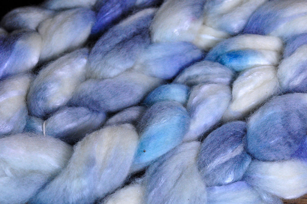 BFL Wool / Sparkly Nylon Top - 'Frost'