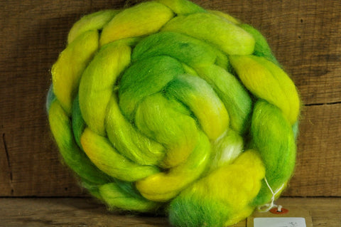 BFL Wool / Sparkly Nylon Top - 'Grasshopper'