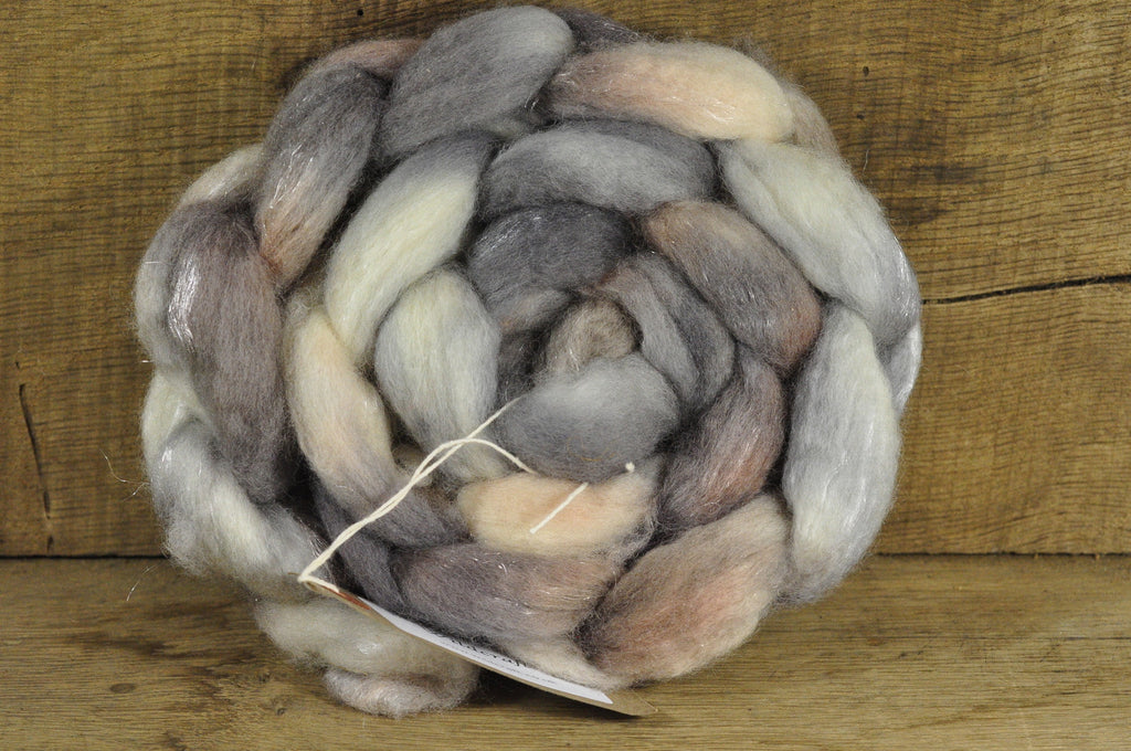 BFL Wool / Sparkly Nylon Top - 'Honesty Moons'