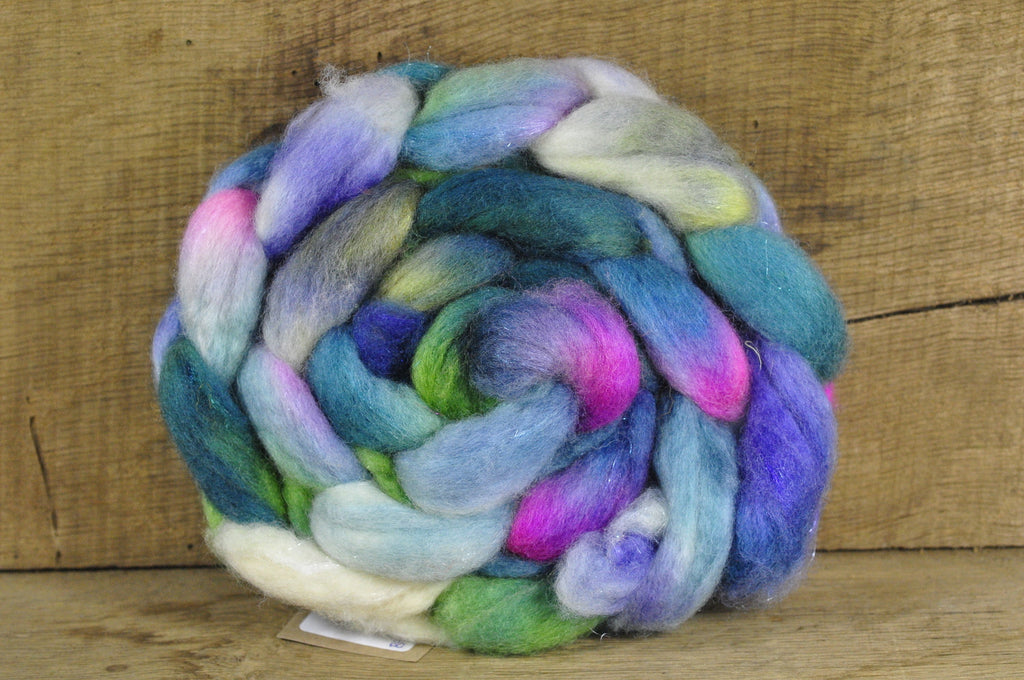 BFL Wool / Sparkly Nylon Top - 'Waterlily'