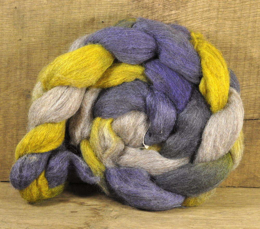 BFL Wool Top for Hand Spinning - 'Pansy Shades'