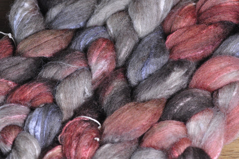 BFL/Silk Top for Handspinning - 'Wren'