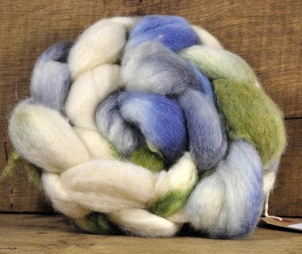 BFL Wool Top for Hand Spinning - 'Summer Meadow'