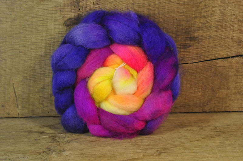 BFL Wool Top for Hand Spinning - 'Sunrise'