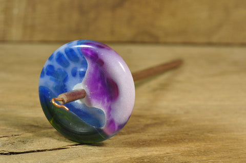 Resin Spindle  Blue/Green