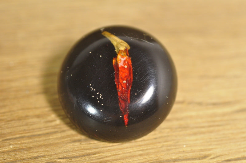 ON SALE! Handmade Resin Button - Chilli Pepper