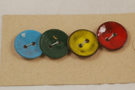Enamelled Copper Buttons - Rainbow