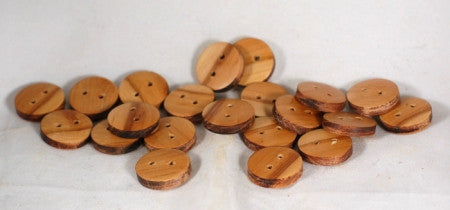 Handmade Wooden Buttons - Chunky Cherry