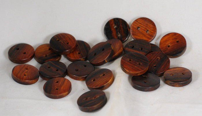 Handmade Wooden Buttons - Chunky Cocobolo