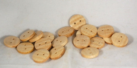 Handmade Wooden Buttons - Chunky Sycamore