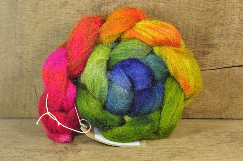 Cheviot Wool Top - 'Subdued Rainbow'