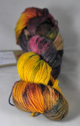 "Hand Dyed Merino / bamboo 4ply Yarn (New London 4ply) - ""Harvest"""