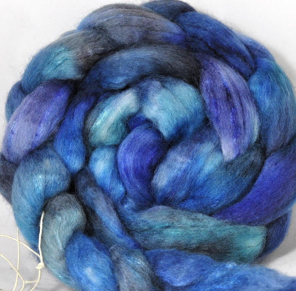 BFL Wool / Sparkly Nylon Top - Kingfisher