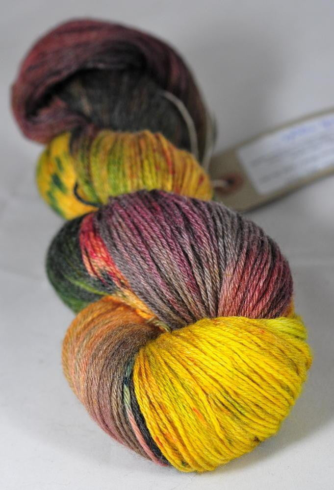 "Hand Dyed Merino / bamboo 4ply Yarn (New London 4ply) - ""Crab Apple"""