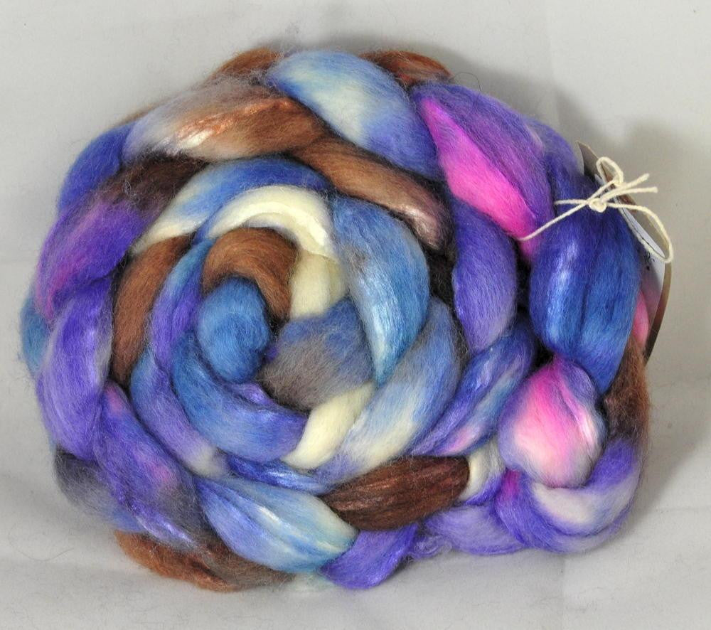 BFL/Silk Top for Hand Spinning - Alkanet