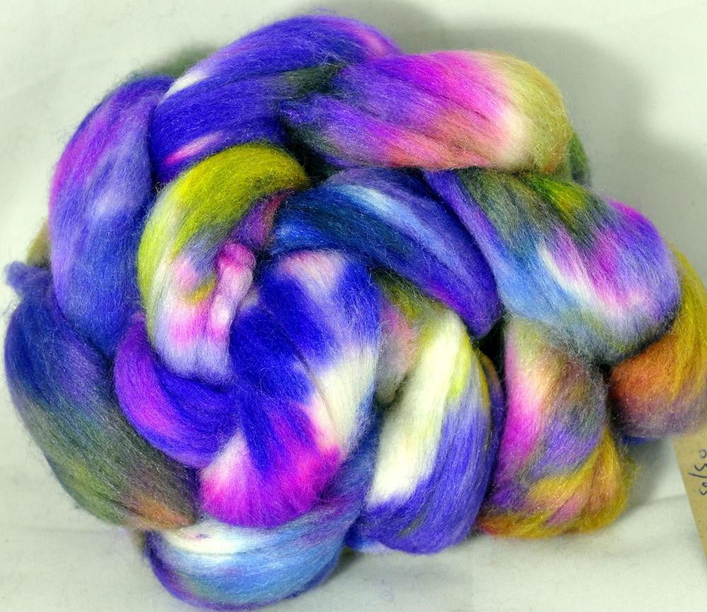 Polwarth/Silk Top for Hand Spinning - Wild Orchid