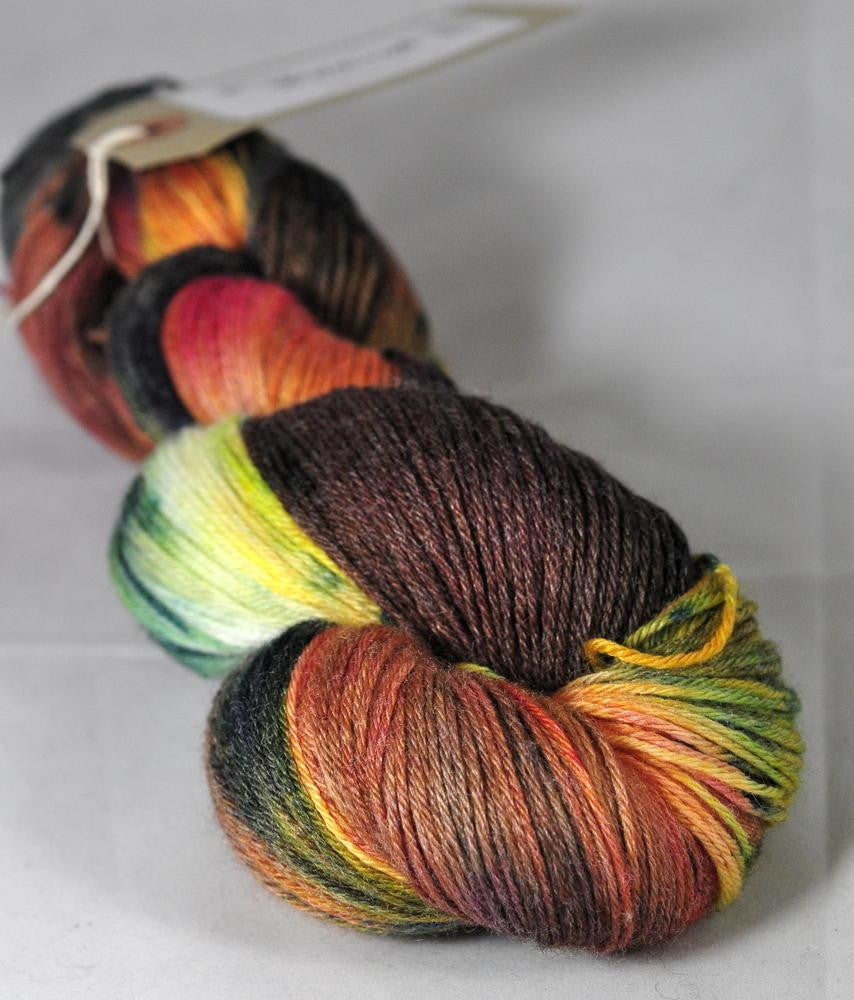 "Hand Dyed Merino / bamboo 4ply Yarn (New London 4ply) - ""Orchard"""
